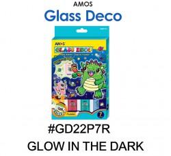 AMOS GLASS DECO #GD22P7R(GLOW IN THE DARK)