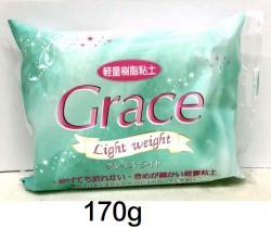 GRACE輕量樹脂黏土(粉綠袋) 170g #875