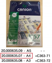CANSON 1557系列畫簿 180g A4 #4127423