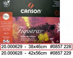 CANSON FIGUERAS OIL PAD 46x38cm 290g(10頁)