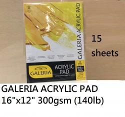 W&N GALERIA  ACRYLIC PAD 16x12'' 15張 #6687574
