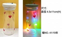 有燈玻璃瓶(暖光|彩色燈)- 直身瓶11cm高
