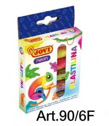 JOVI螢光泥膠 6色x15g  Art. 90|6F