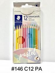施德樓PASTEL LINE粉色木顏色筆12色 #146 C12PA