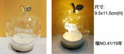 有燈玻璃瓶(暖光|彩色燈)- 蘋果