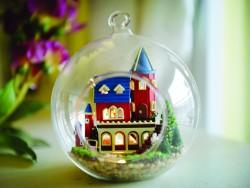 小屋模型-玻璃球吊飾B-005
