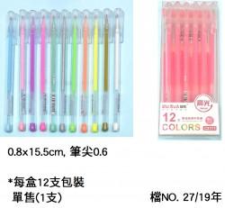 高光粉彩中性筆(單售)