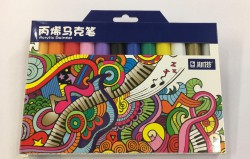 STA塑膠彩筆(12色)
