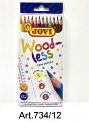 Woodless三角木顏色12色  Art.734|12