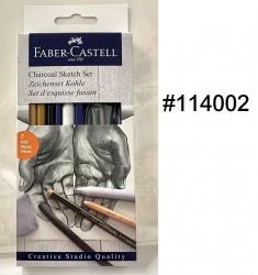 FABER素描炭枝套裝(紙盒) #114002