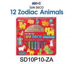 AMOS SUN DECO #SD10P10-ZA(12 ZODIAC ANIMALS)