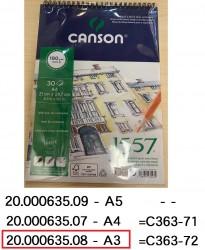 CANSON 1557系列畫簿 180g A3 #4127424