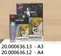 CANSON ILLUSTRATION漫畫繪圖畫咭A4 250G(12張)#00387200