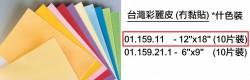 台灣彩麗皮12''x18'' (10片裝)