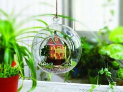 小屋模型-玻璃球吊飾B-003