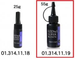 UV-LED兩用透明樹脂液(紫貼) 55g