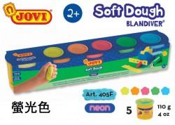 JOVI學校軟泥膠套裝(螢光色) 5色x100g  Art.405F